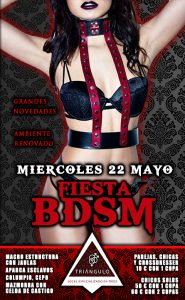 FIESTA BDSM (MIÉRCOLES 22 DE MAYO 2019) PARKING GRATUITO