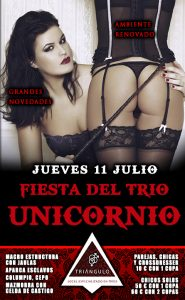 Fiesta del TRÍO – ¡¡UNICORNIO!! <br> (Jueves, 11 Julio 19) <br> PARKING GRATUITO