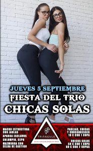 Fiesta del TRÍO – CHICAS SOLAS <br> (Jueves, 5 Septiembre 19) <br> PARKING GRATUITO
