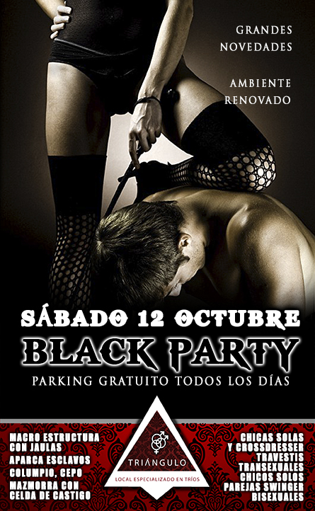 BLACK PARTY <br> (SÁBADO 12 OCTUBRE 2019) <br> PARKING GRATUITO