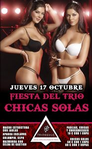 Fiesta del TRÍO – CHICAS SOLAS <br> (Jueves, 17 Octubre 19) <br> PARKING GRATUITO