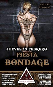 FIESTA BONDAGE <br> (Jueves 13 Febrero 20) <br> PARKING GRATUITO