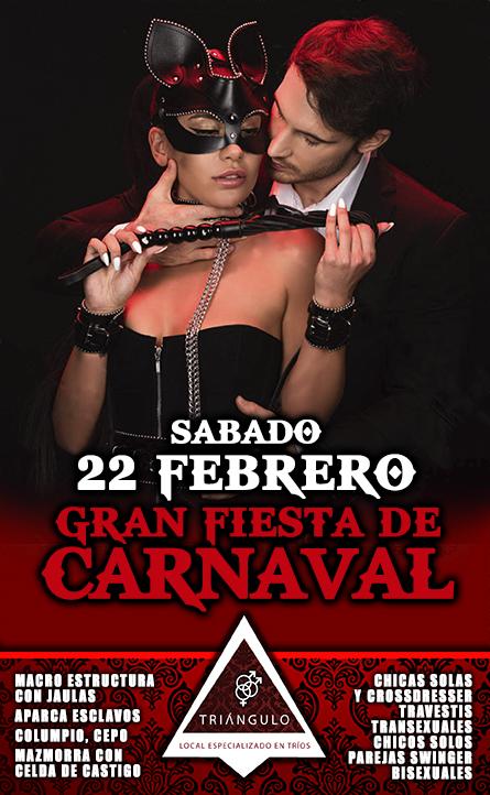 GRAN FIESTA DE CARNAVAL <br> (SÁBADO, 22 Febrero 20) <br> PARKING GRATUITO