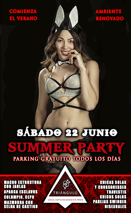 SUMMER PARTY <br> (SÁBADO 22 DE JUNIO 2019) <br> PARKING GRATUITO