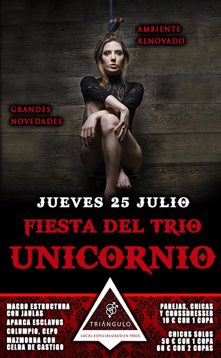Fiesta del TRÍO – ¡¡UNICORNIO!! <br> (Jueves, 25 Julio 19) <br> PARKING GRATUITO