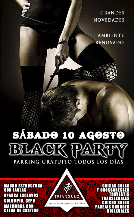 BLACK PARTY <br> (SÁBADO 10 DE AGOSTO 2019) <br> PARKING GRATUITO