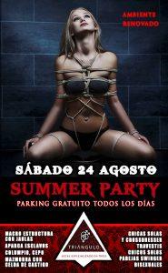 SUMMER PARTY <br> (SÁBADO 24 DE AGOSTO 2019) <br> PARKING GRATUITO