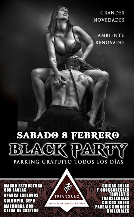 BLACK PARTY <br> (SÁBADO 8 Febrero 20) <br> PARKING GRATUITO