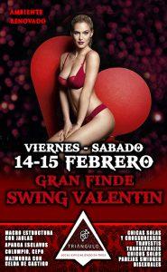 FINDE SWING VALENTIN <br> (Viernes – Sábado 14-15 Febrero 20) <br> PARKING GRATUITO